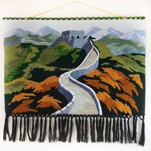 Great Wall of China Woven Wall Hanging